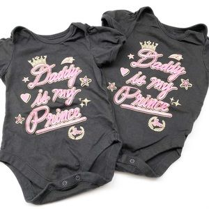 The Children's Place Daddy printed bodysuits